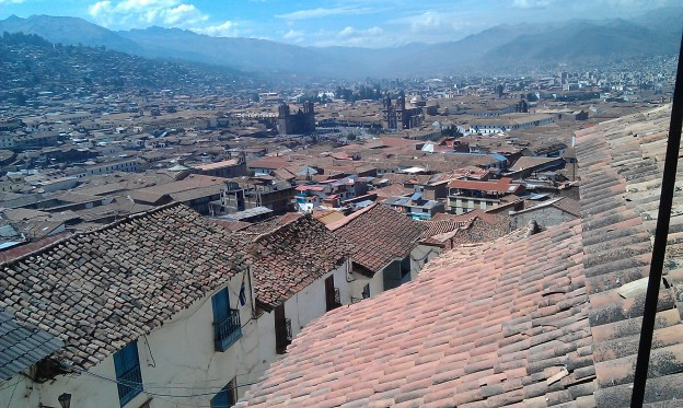 The earthy tiles of the rooftops were spread out before us, waiting to be explored